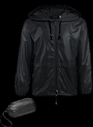 COOFANDY_Men_s_Packable_Rain_Jacket_Outdoor_Waterproof_Hooded_Lightweight