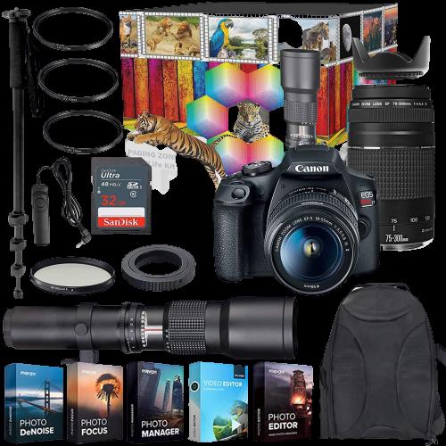 .Canon EOS Rebel T7 DSLR Camera with accessories