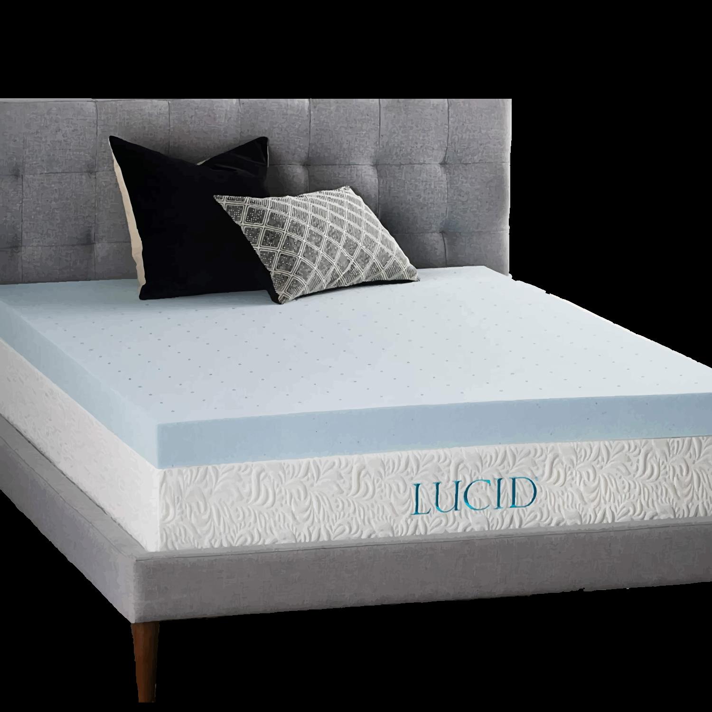 LUCID-4-Inch-Gel-Memory-Foam-Mattress-Topper