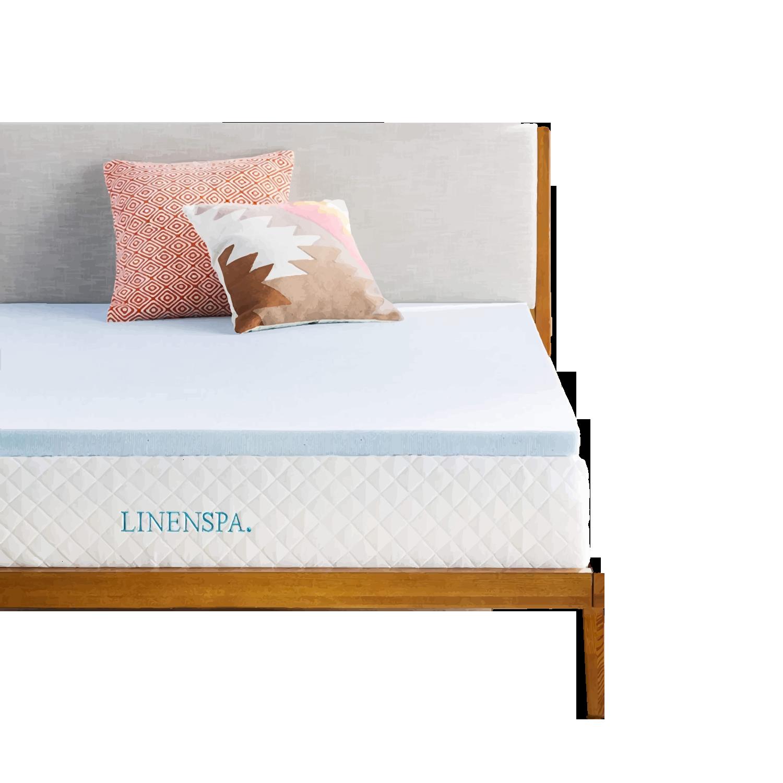 Linenspa-2-Inch-Gel-Infused-Memory-Foam-Mattress-Topper,-Queen
