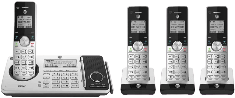 AT_T_4_handset_Cordless_Phone_with_answering_System
