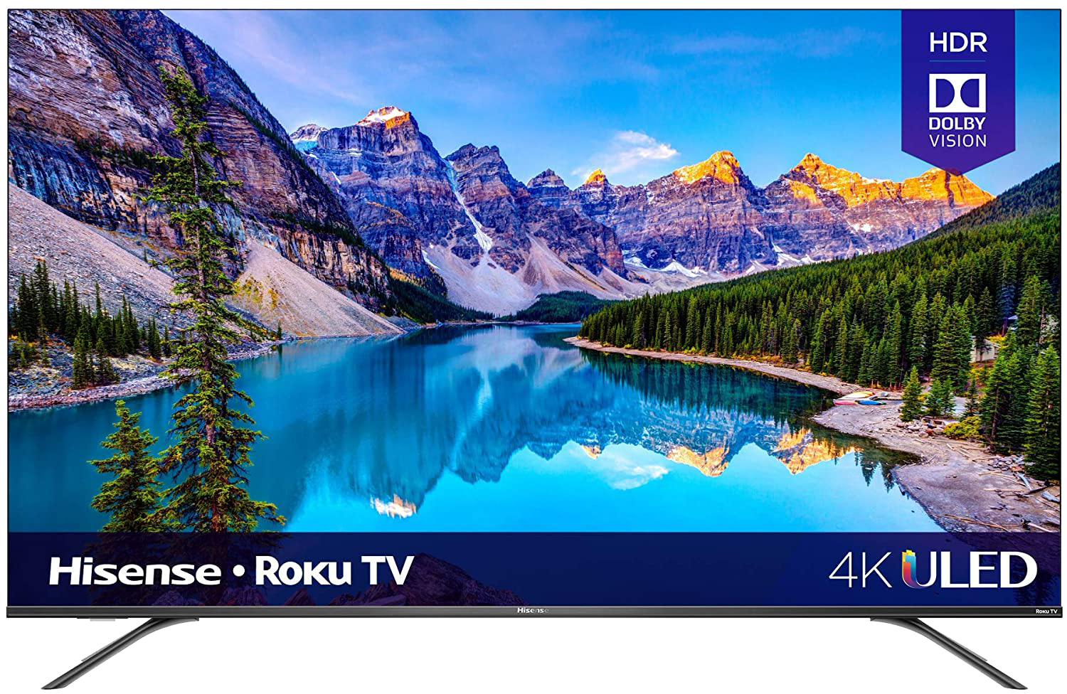Hisense 65 inch class R8 series Dolby Vision and Atmos 4K ULED Roku smart TV
