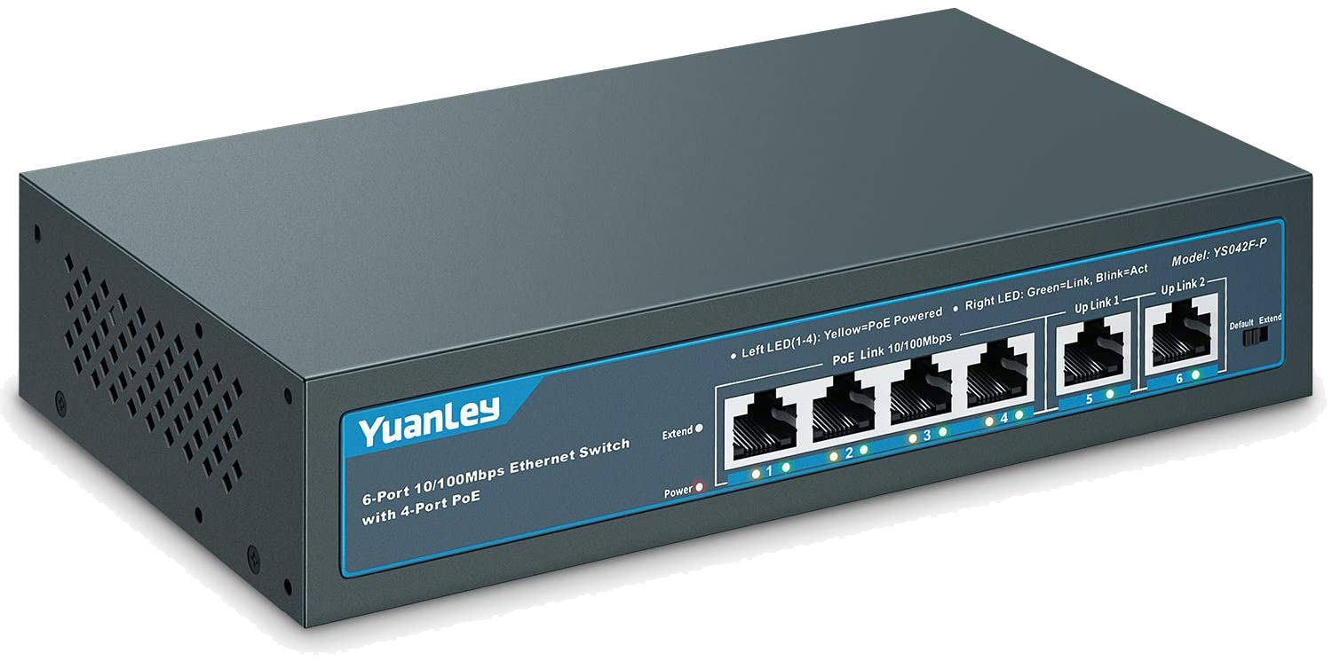 YuanLey 6 Port POE Switch